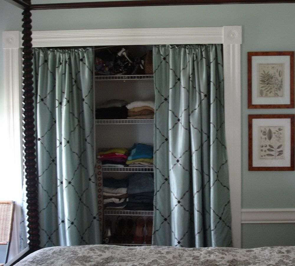 Closet Door Alternatives Curtains • Closet Doors | Bedroom ...