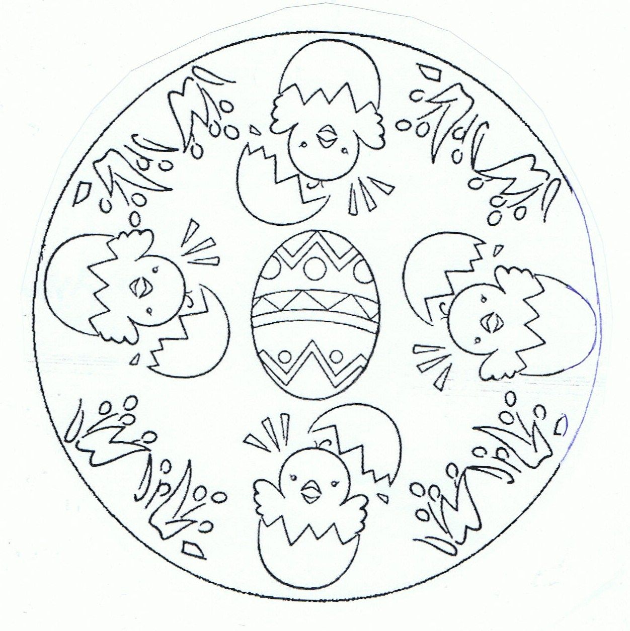 Mandala Poussins Pasqua Disegni Di Mandala Da Colorare