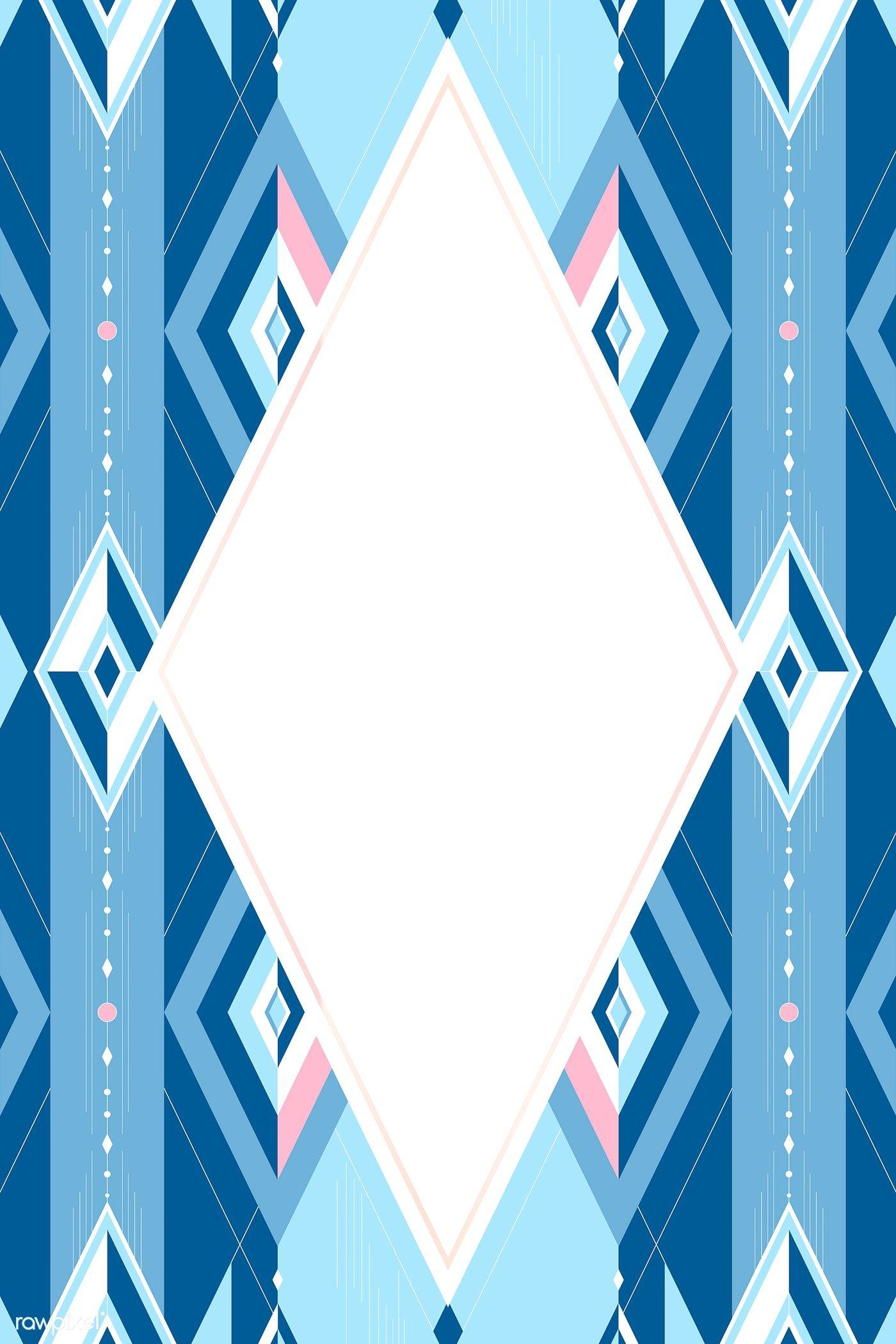 Download premium vector of Bright blue geometric seamless