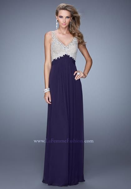 La Femme Cap Sleeve Dress 21223