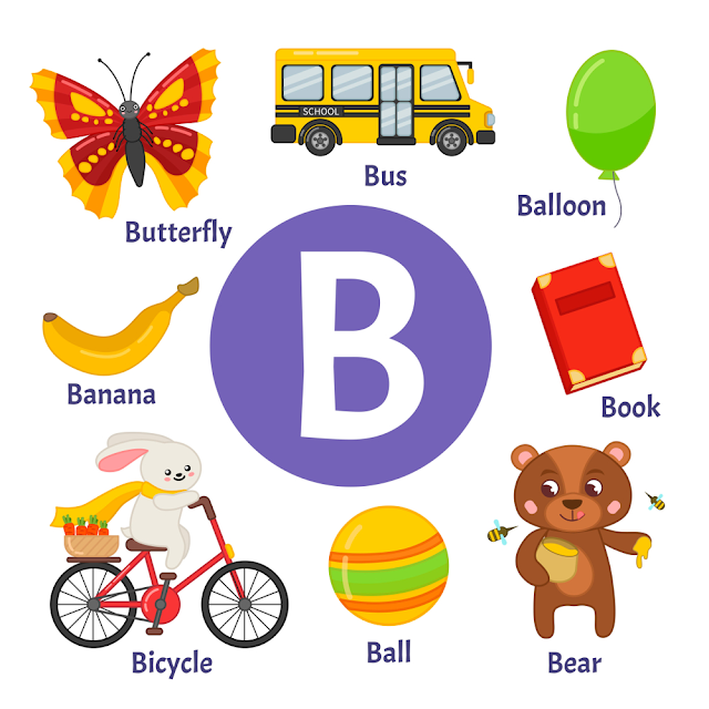 تعلم الحروف الانجلييزية حرف B قصة لطفلك Learning Cards Alphabet Pictures Abc Coloring Pages