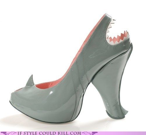 d342bdbf5a7 crazy shoes - sharks - Water Hazard -- I would never wear them, but ...