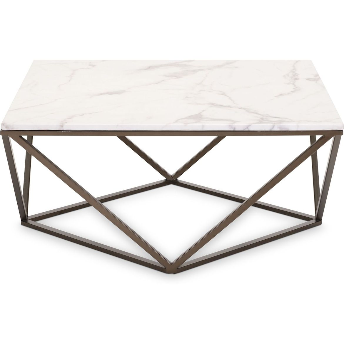 Emma Marble Coffee Table Value City Furniture And Mattresses Marble Top Coffee Table Coffee Table Furniture [ 1170 x 1170 Pixel ]