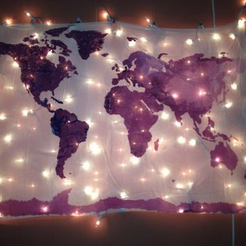 World map wall tapestry in navy home furnishings boho etc world map wall tapestry in navy gumiabroncs Image collections
