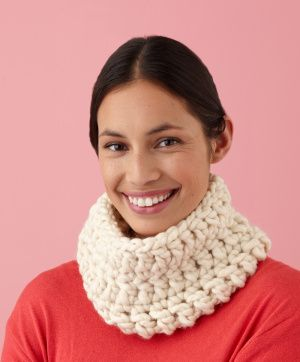 Image of Quick Cowl at Lion Brand website - need to have an account to get free pattern.