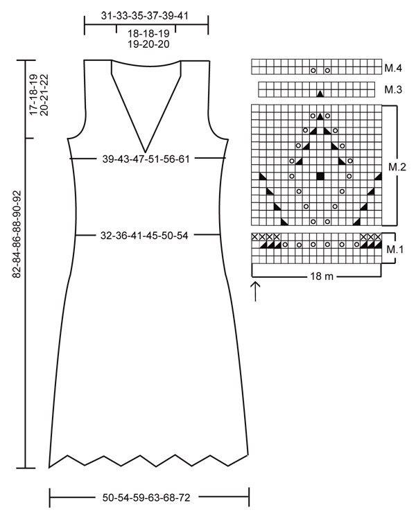 Vestido DROPS con patrón de texturas en Muskat. Patrón gratuito de ...