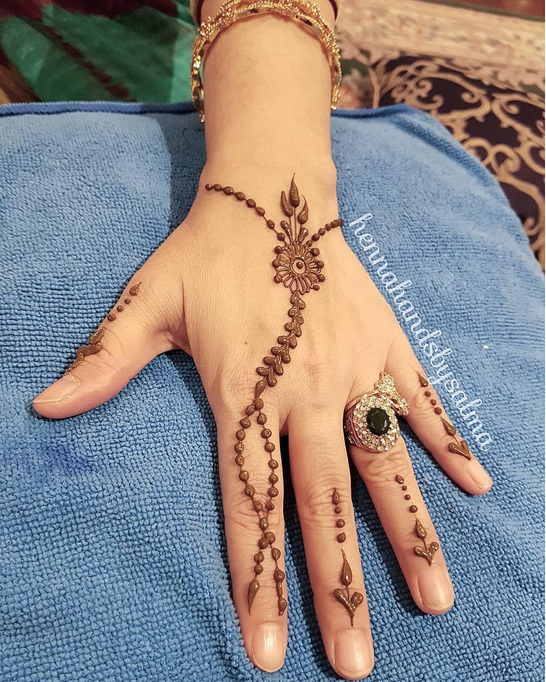 Simple henna design hennahandsbysalma hennahands hennalookbook