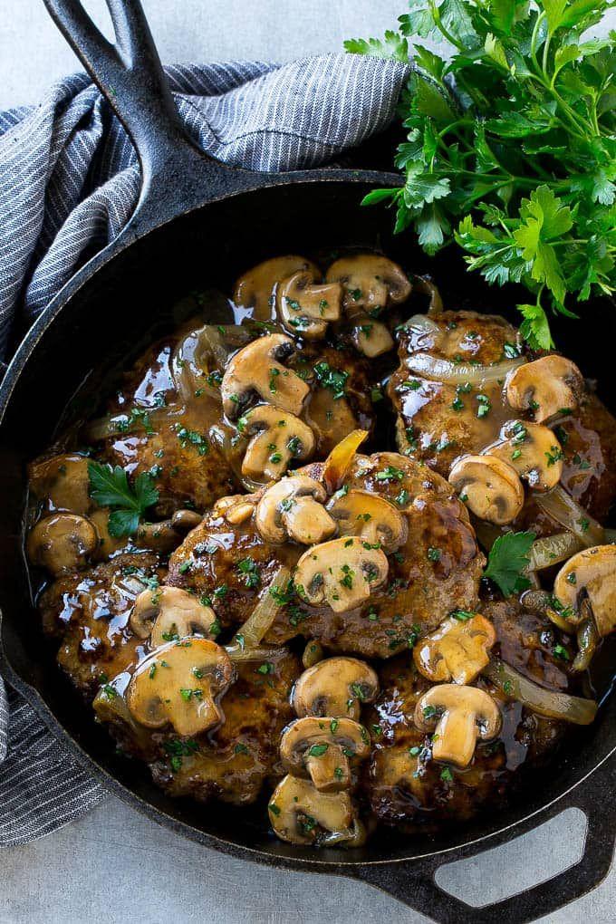 Salisbury Steak Is An Easy Dinner Option That S Classic Comfort Food Salisbury Steak
