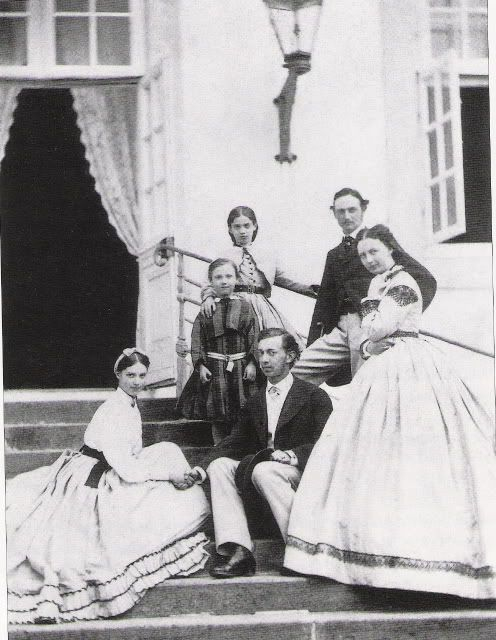 Marie Feodorovna with her family and first fiance Grand Duke Nicholas.