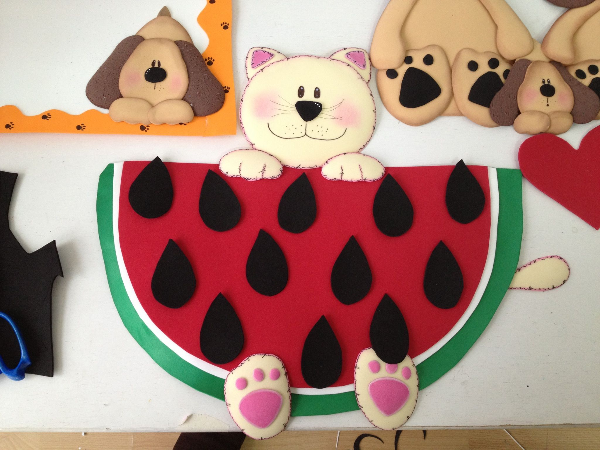 Classroom Decoration Charts For Kids ~ Kitty watermelon attendance chart classroom decoration