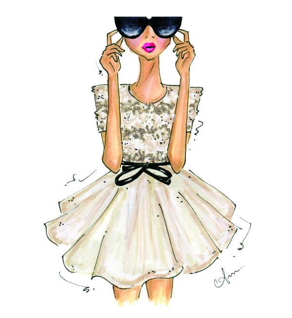 Girl About Town Print, Sabrina // Lulu & Georiga #prints #homedecor #gifts
