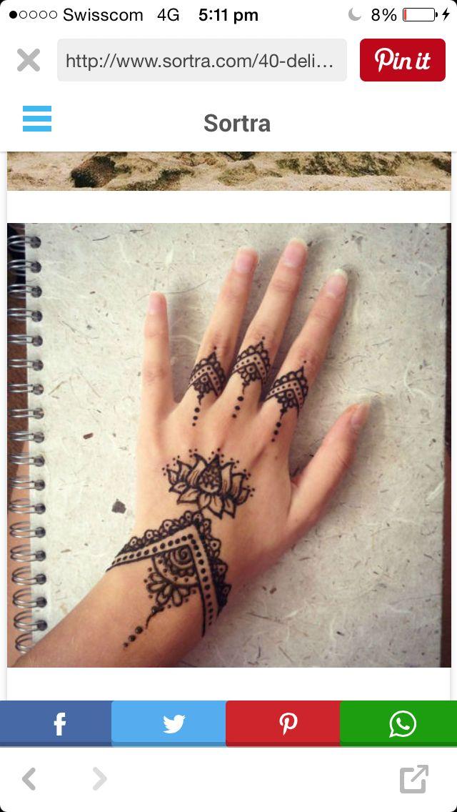 Love The Lotus Henna Pinterest Henna Henna Tattoo Designs