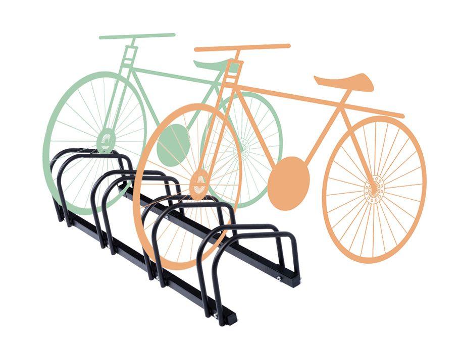 ZNL Fahrradständer Rahmenständer für 4 Fahrräder Räder Fahrrad ...