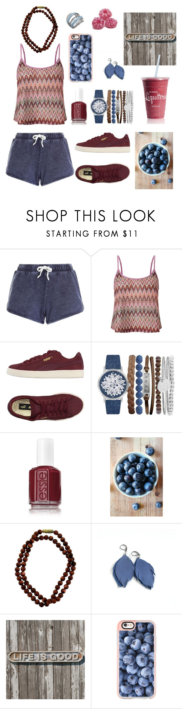 """""""Way of life- time"""" by kathrin-black ❤ liked on Polyvore featuring New Look, Lipsy, Puma, Jessica Carlyle, Essie, Casetify and GUESS"""