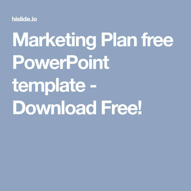 Marketing Plan Free Powerpoint Template  Download Free