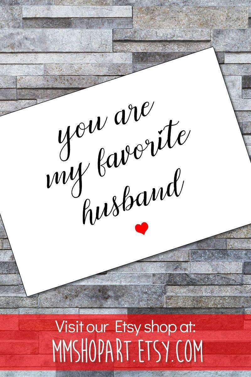 Favourite husband cardanniversary card husbandfunny