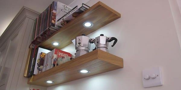 M Furniture Floating Shelves With Lights