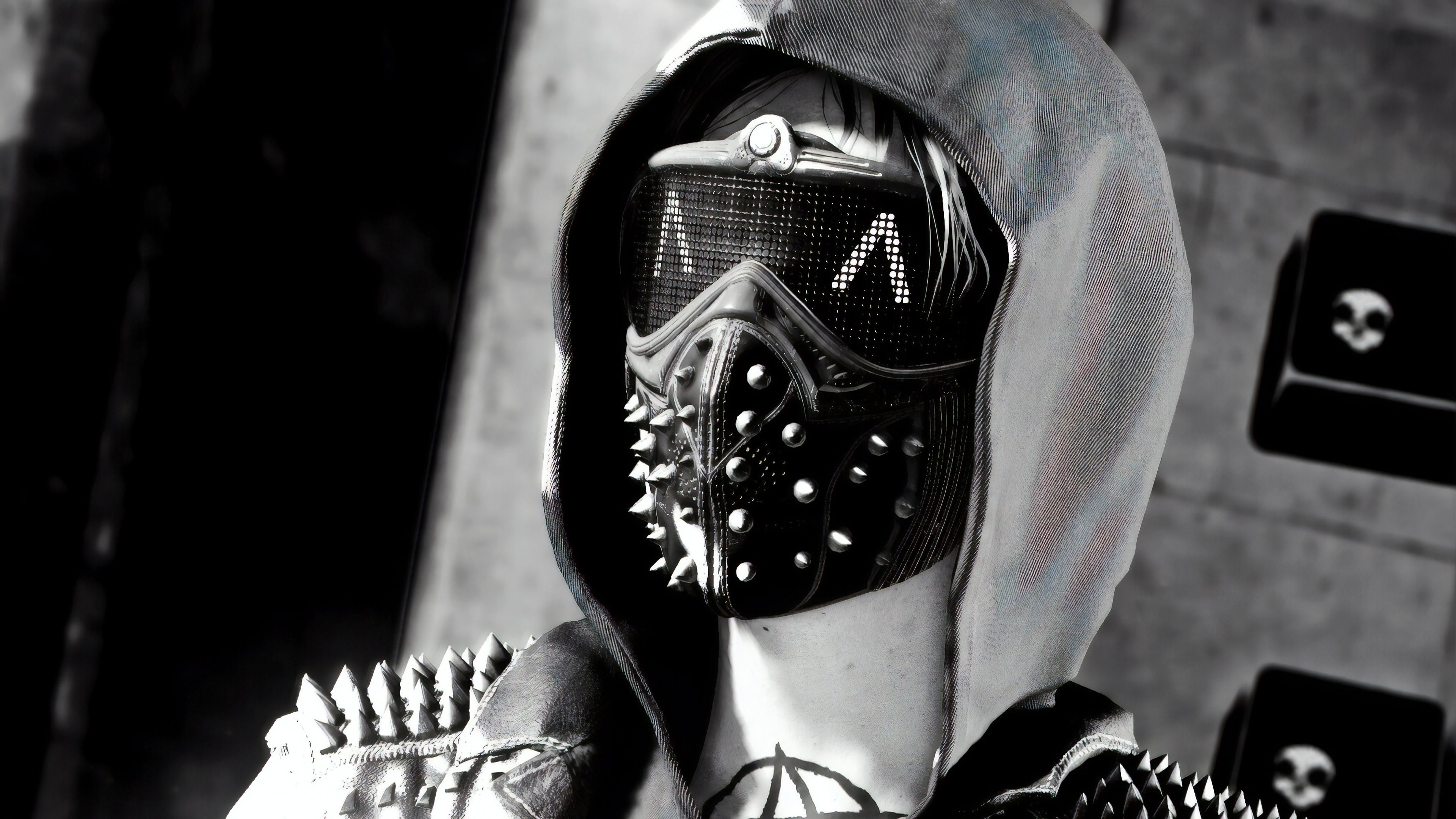 Wrench Watch Dogs 2 Monochorme Wrench Watch Dogs 2 Wallpapers Watch Dogs 2 Wallpapers Monochrome Wal Wrench Watch Dogs 2 Watch Dogs Black And White Wallpaper