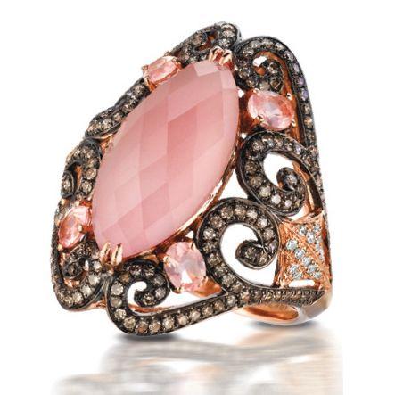 Doves Jewelry rose quartz ring
