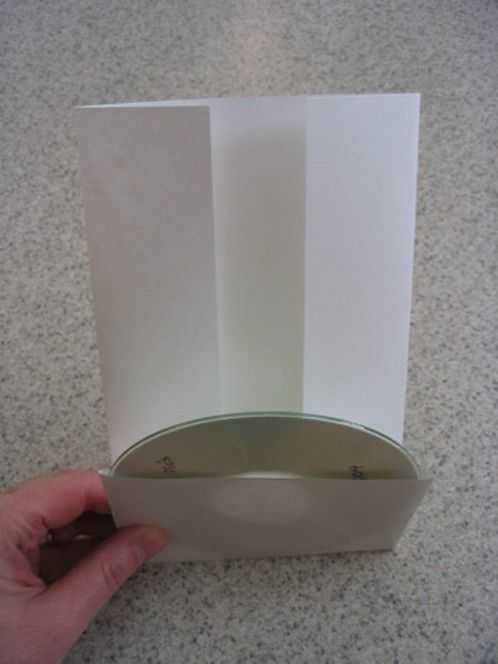 how to make a folded cd case from a piece of paper