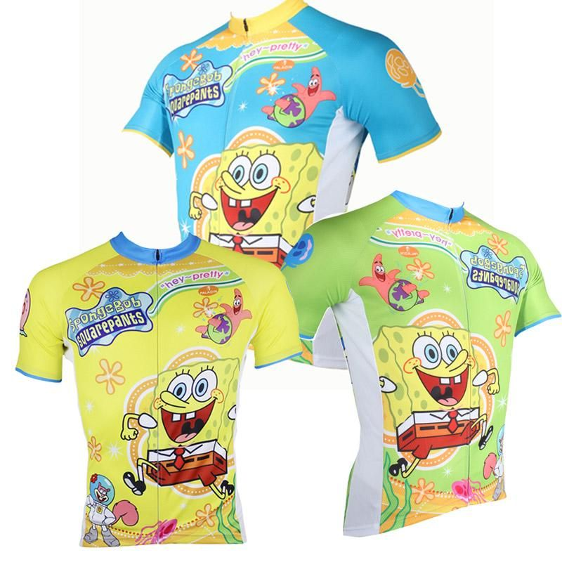 90b7706e5 ILPALADINO SpongeBob SquarePants Gary Patrick Star Sandy Cheeks Men s Cycling  Jersey Summer Bicycling Pro Cycle Clothing