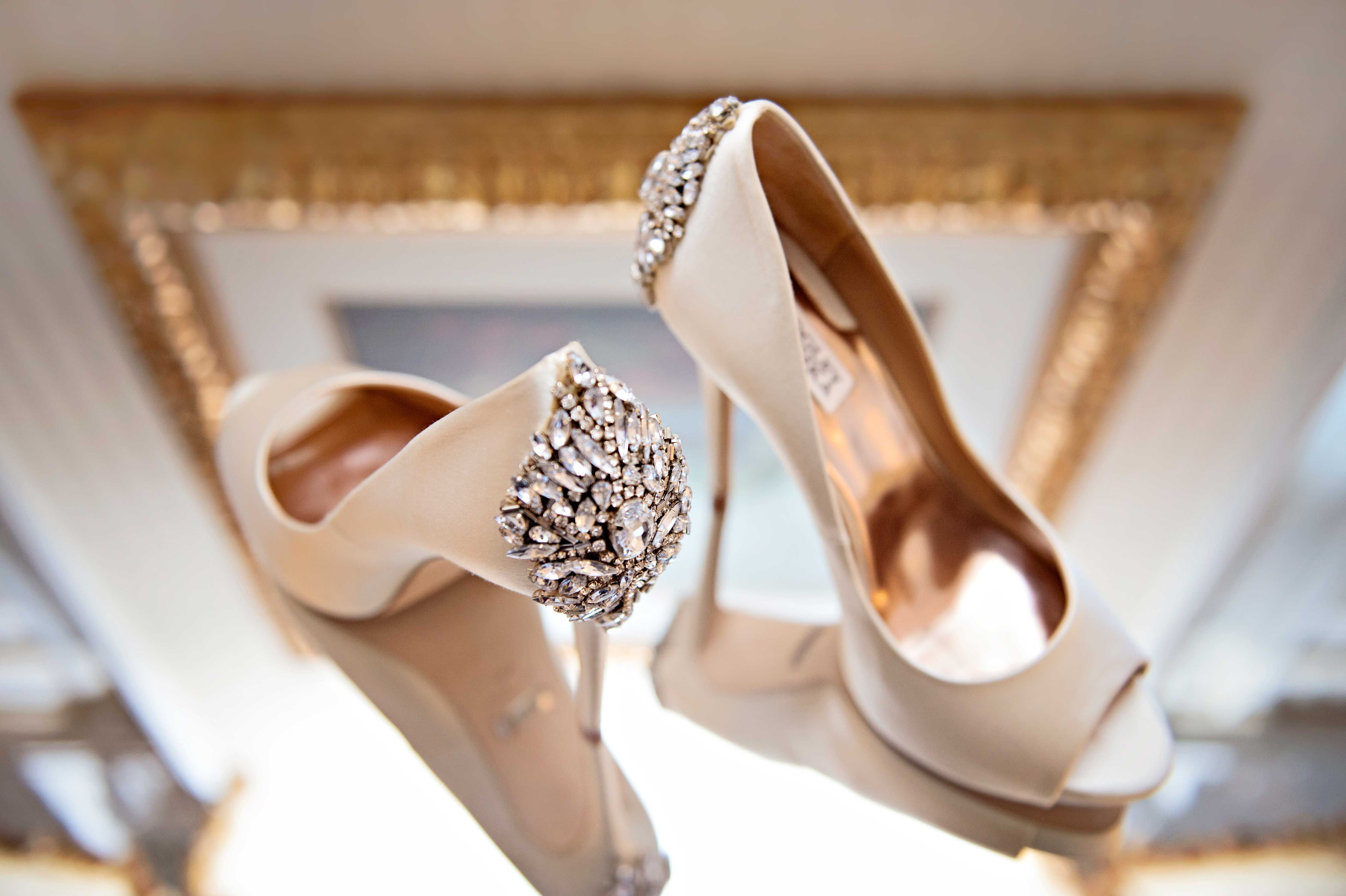 Wedding Shoes For Bride Bridesmaid Outfits Inside Weddings Champagne Wedding Shoes Wedding Shoes Photography Bridal Shoes
