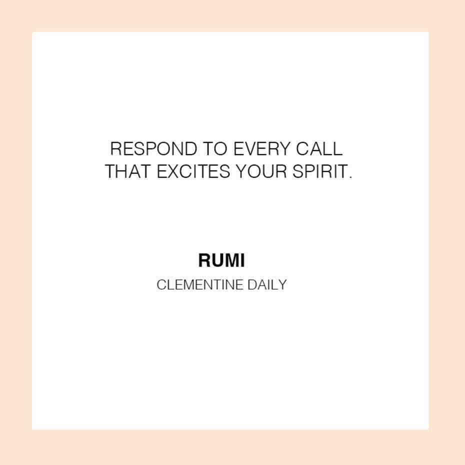 DAILY QUOTE - Clementine Daily