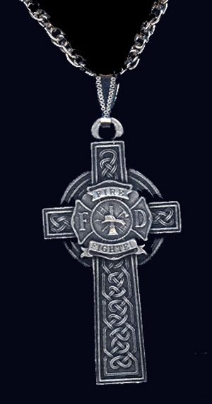 Firefighter Celtic Cross Necklace
