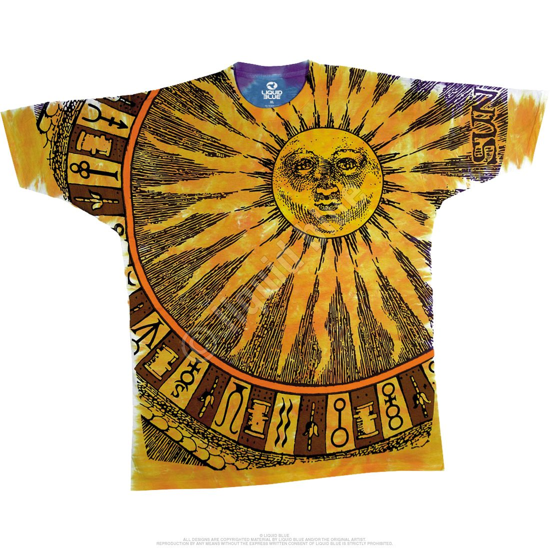 Hand-painted ancient sun and moon unisex t-shirt tee