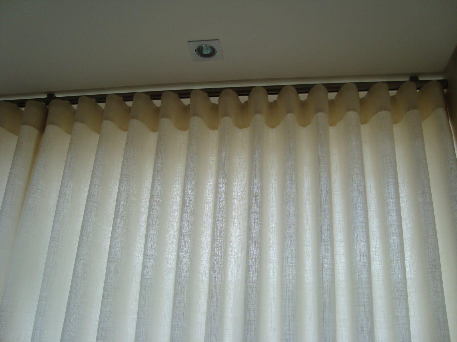 Cortina trilho su o casa corts cortinas pinterest - Sistemas para cortinas ...