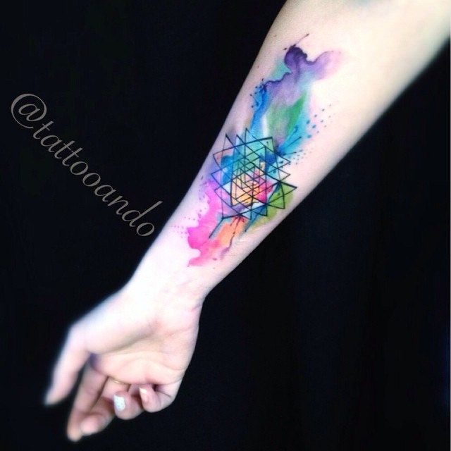 Tattoo Watercolor Sacred Geometric Tattooando