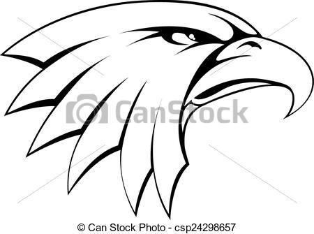 vector bald eagle head icon stock illustration royalty free rh pinterest com eagle head clipart black and white eagle head clipart vector