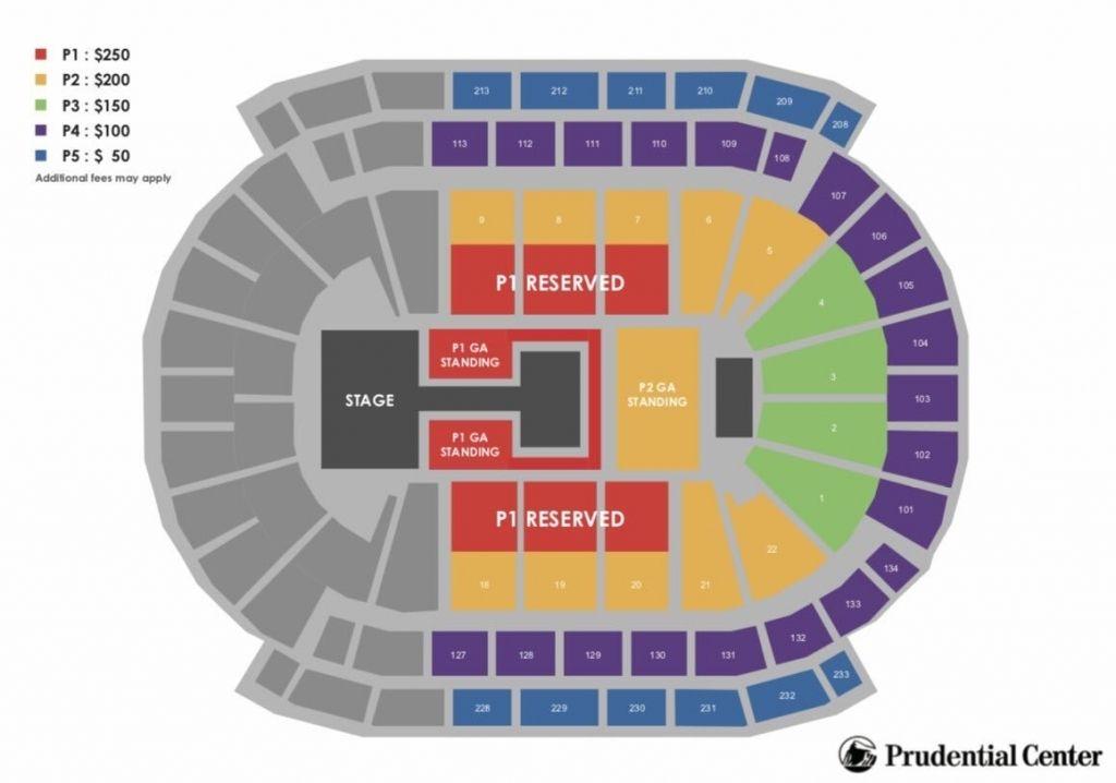 Prudential Center Seating Chart Concert Konser