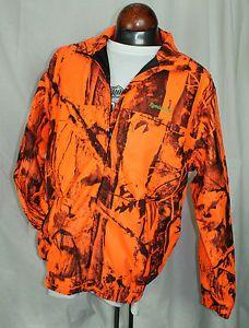 77bd23e9efef7 Remington Blaze Orange Camo Waterproof Breathable Rain Jacket Medium Hunting  | eBay