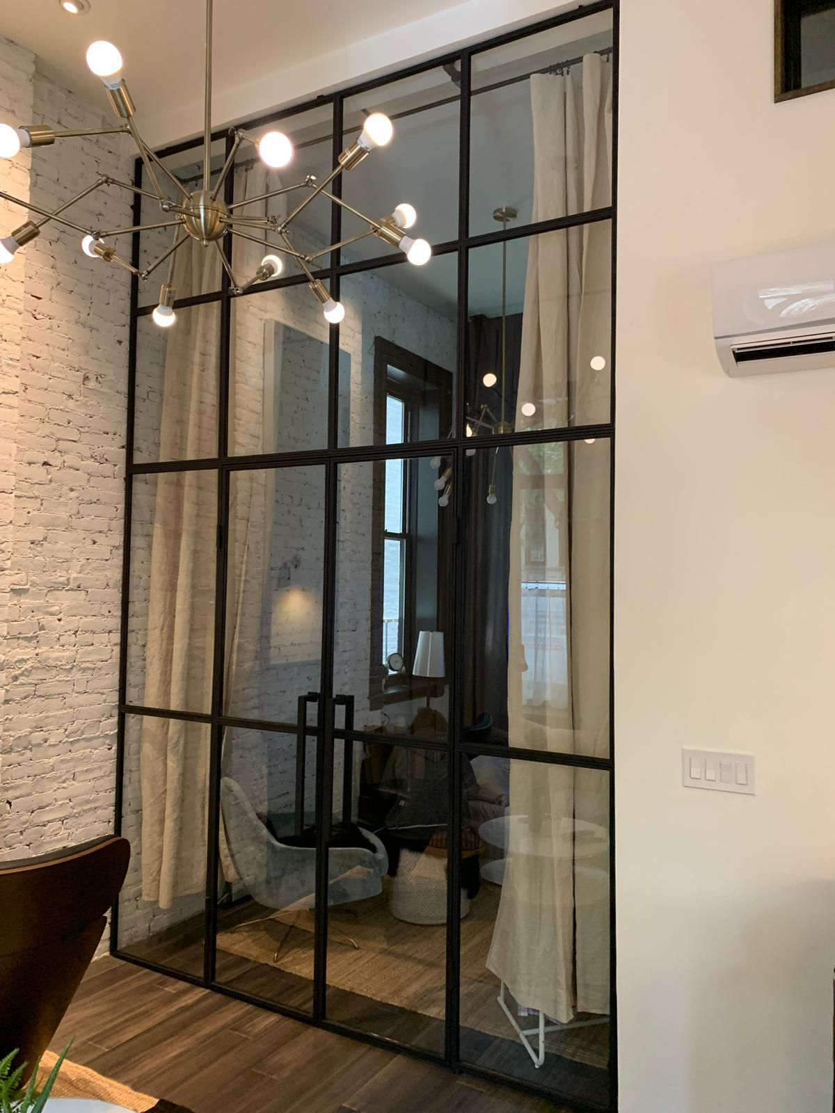 French Doors For A Manhattan Townhouse Glass Partition Wall Glass Partition Designs Glass Doors Interior