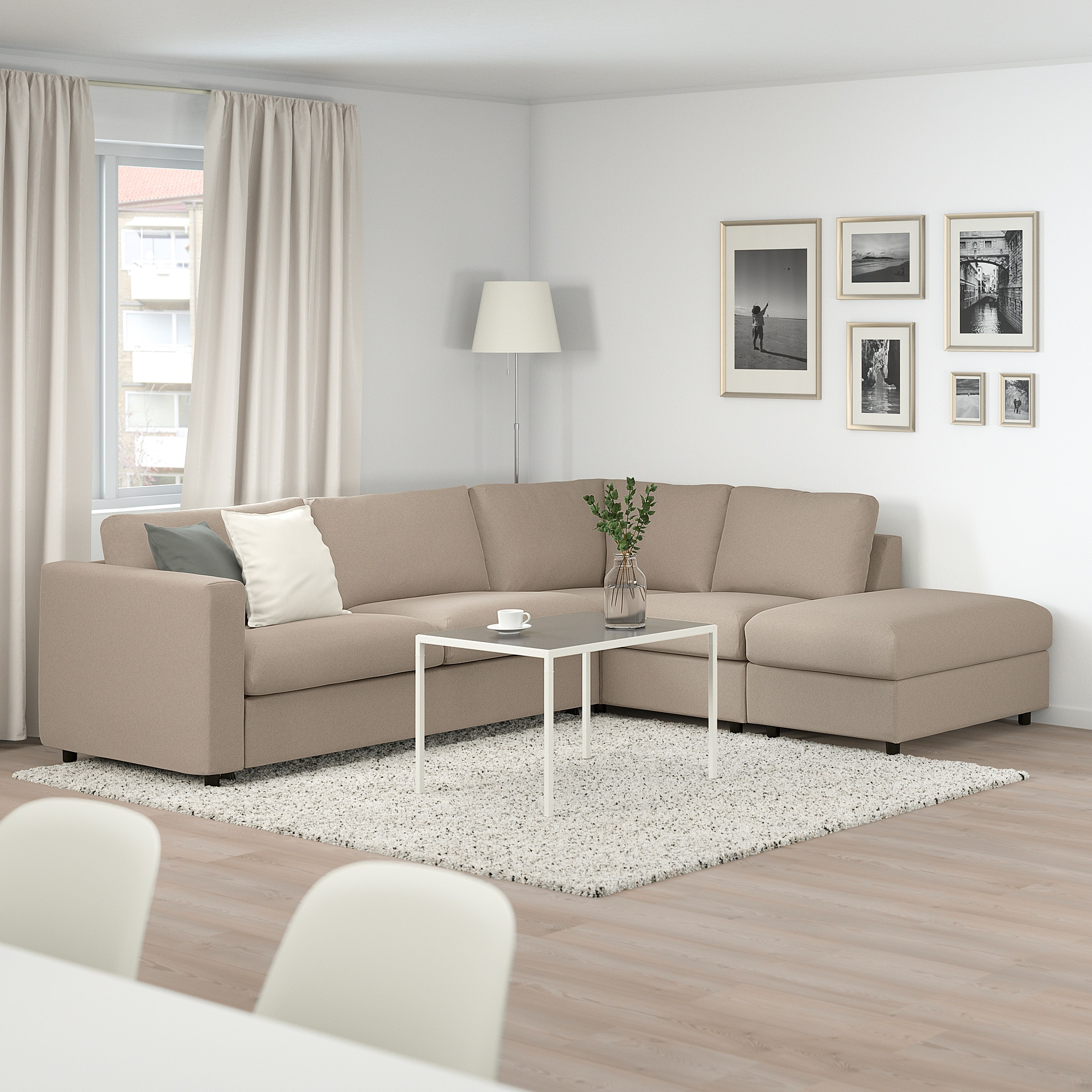 Ikea Vimle Corner Sofabed W Storage With Open End Tallmyra Beige Canape Lit Angle Canape Lit Lit En Angle