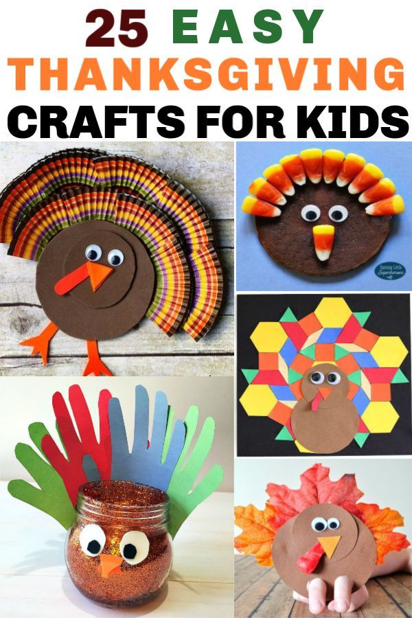 25 Easy Thanksgiving Crafts for Kids