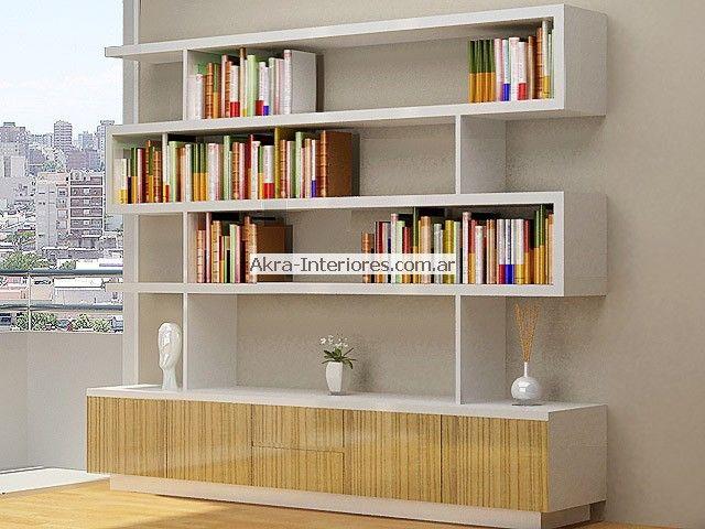 Escritorios en estudio moderno buscar con google - Muebles para libros modernos ...