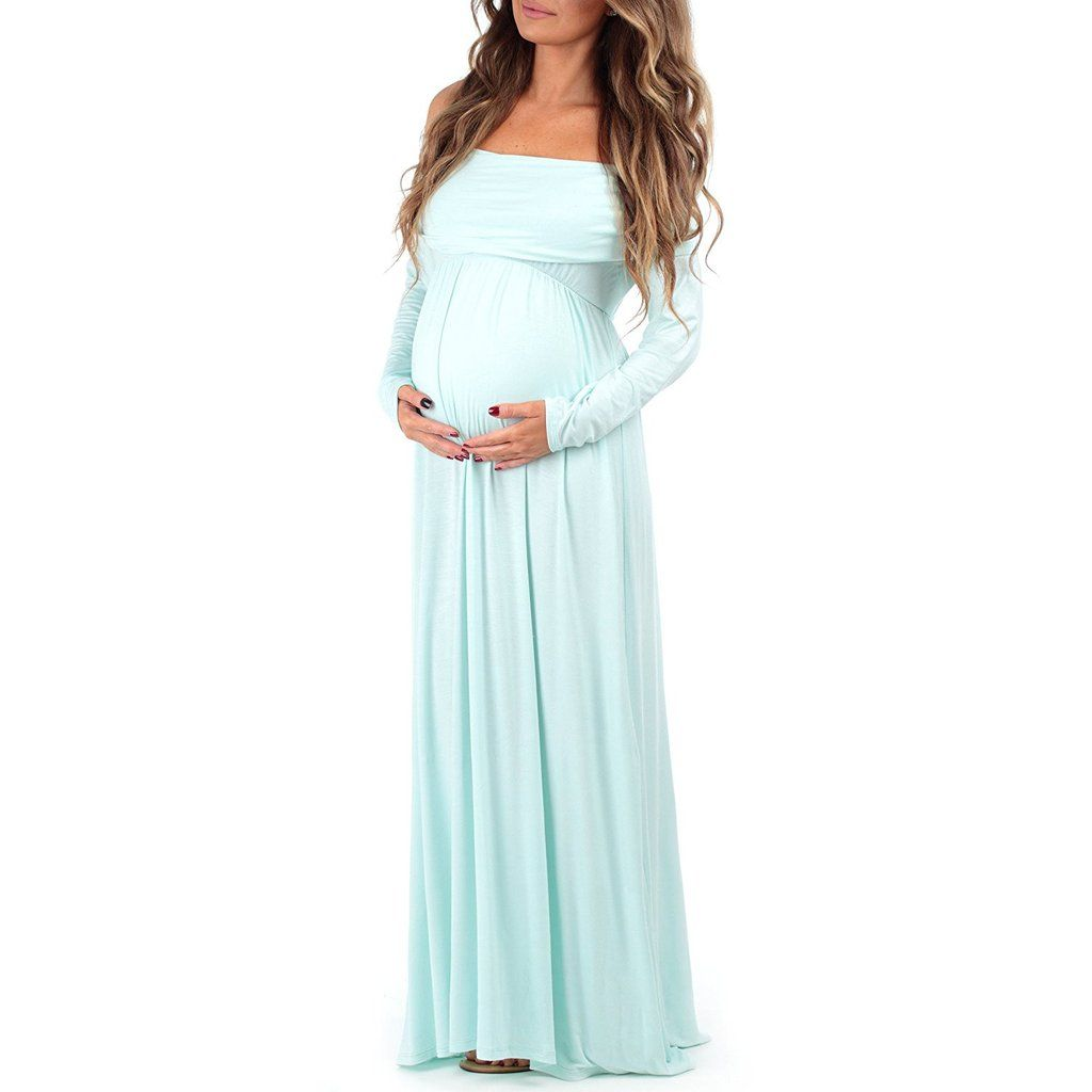 Mom to be baby bump pregnancy portrait dress maternity photo prop mom to be baby bump pregnancy portrait dress maternity photo prop closed front aqua blue ombrellifo Images