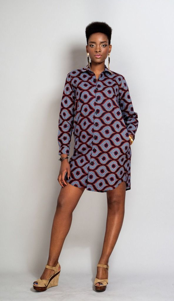 tunique chemise manches longue en pagne chemises blouses par openya couture mode. Black Bedroom Furniture Sets. Home Design Ideas