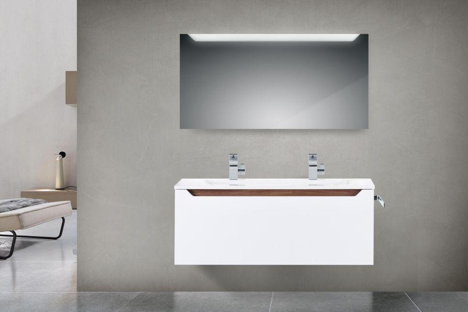 Design Badmobel Set 120 Cm Doppelwaschtisch Griffleiste Nussbaum Tiepolo Jetzt Bestellen Unter Https Moebe Waschtisch 120 Cm Badmobel Set Badezimmerspiegel