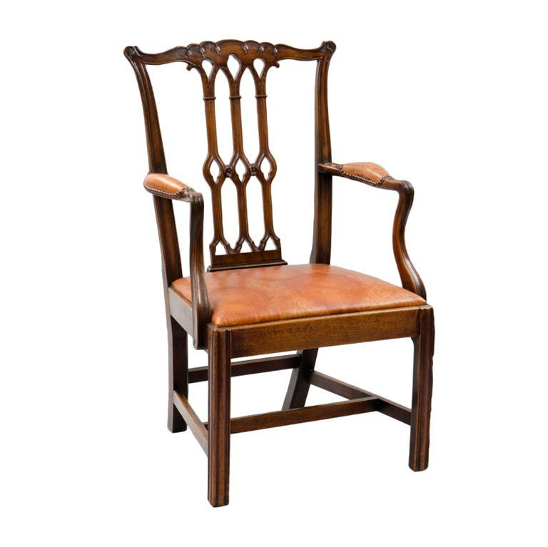 Best English Chippendale Style Armchair Armchair Style Dining Chairs 400 x 300