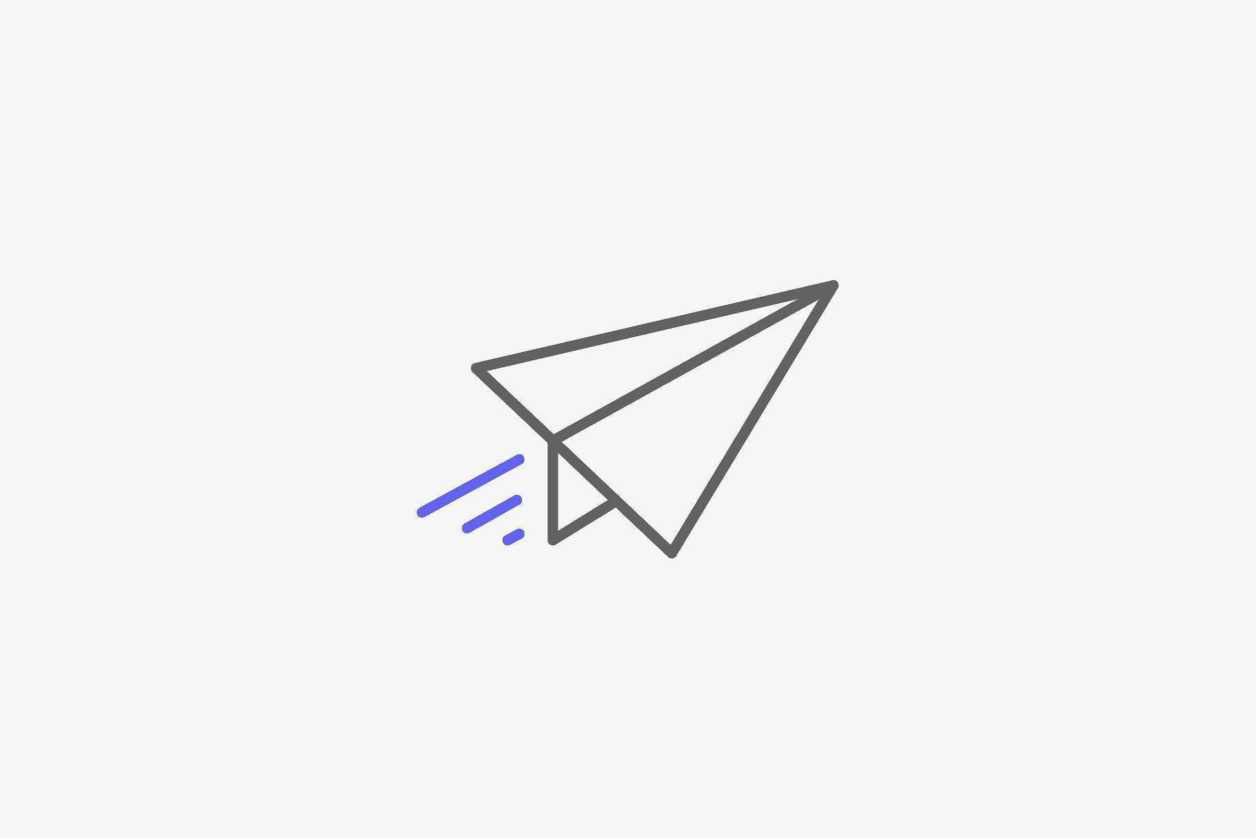 Paper Plane Premium Vector Icon Dengan Gambar Kertas Lucu