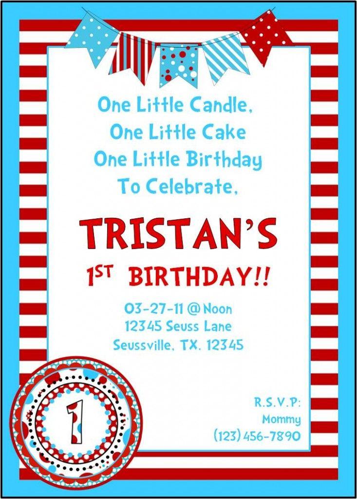 Dr Suess Birthday Invite   My Style   Pinterest