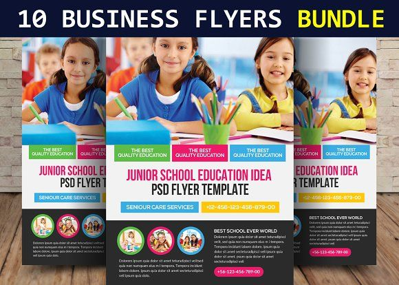 Kids Education Flyer Template by Business Templates on Creative - donation flyer template