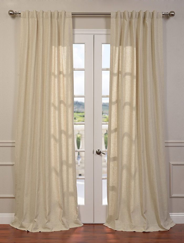 Buy Hilo Natural Linen Blend Solid Curtain Drapes Naturale