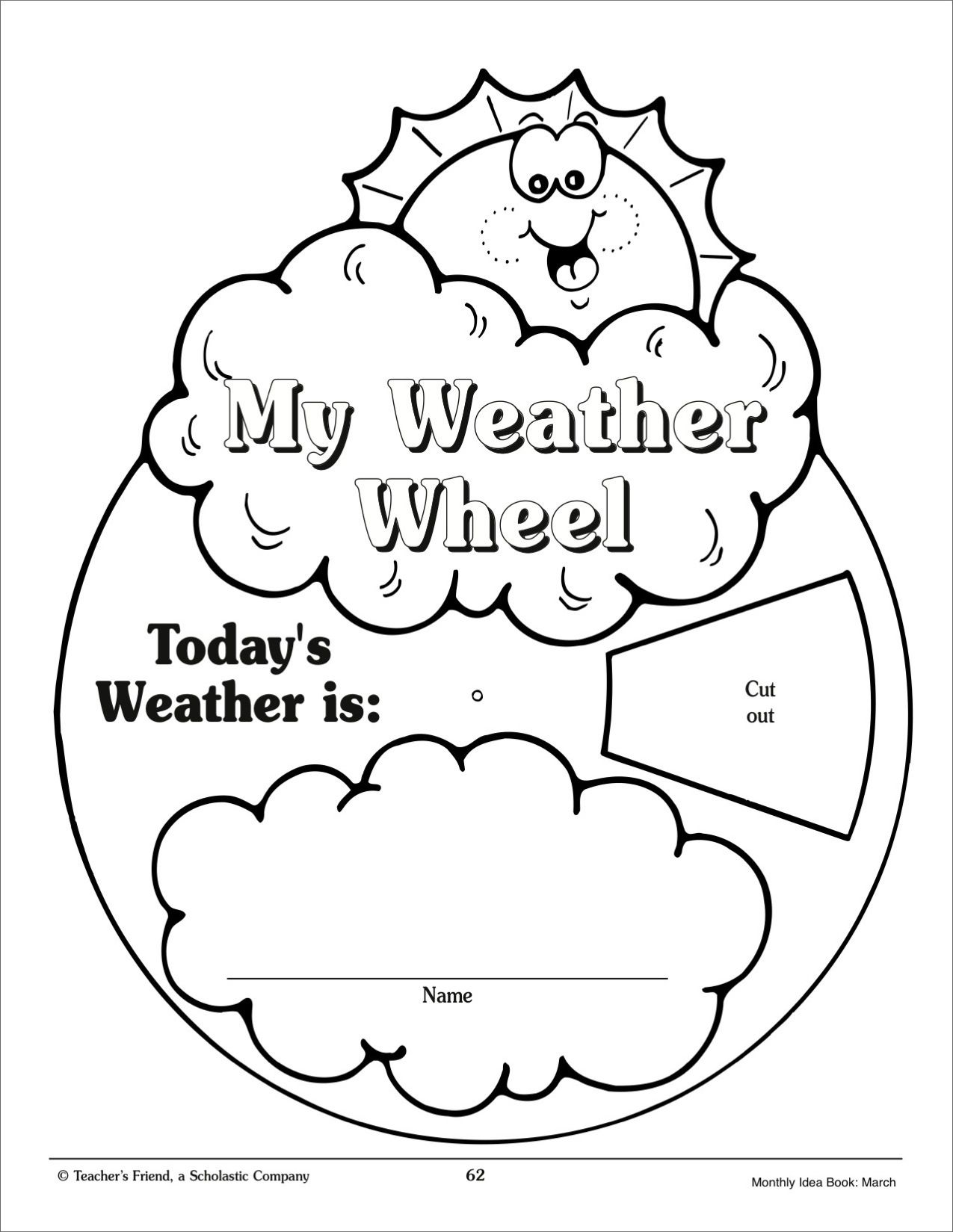 Color wheel worksheets for elementary - My Weather Wheel March Monthly Idea Book Printables Teaching