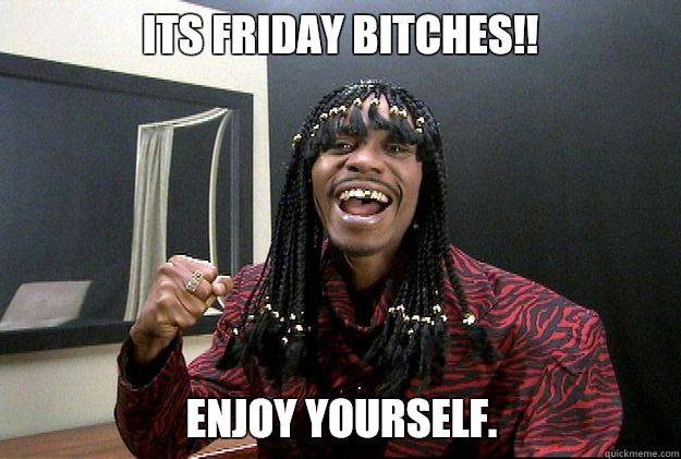 Funny Meme Its Friday : Its friday bitches!! enjoy yourself. misc quickmeme my humor