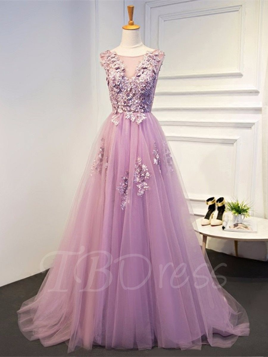 Short Sleeves A-Line Appliques Scoop Pearls Floor-Length Evening ...