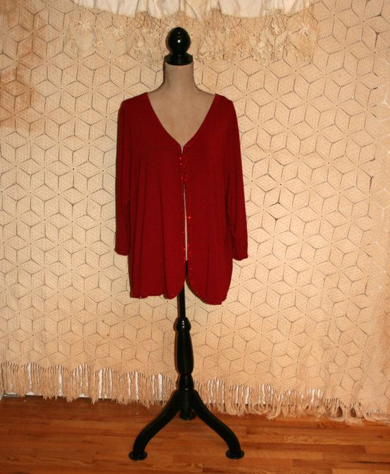 Red Cardigan Red Sweater Dressy Sweater Cocktail Sweater Womens ...